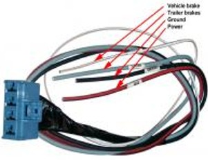 mopar parts restoration parts 1994 up dodge truck oem trailer and this sub harness makes it easy to connect an electronic brake controller to your dodge ram simply connect the correct wires to the brake controller and
