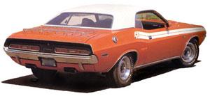 1971 Dodge Challenger R/T Upper Body Tape Stripe KIT MOPAR