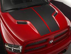 matte black hood stripe on black truck dodge ram forum. Black Bedroom Furniture Sets. Home Design Ideas