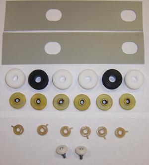 Fits 72 Duster Demon Door Glass Roller Regulator Upstop Overhaul Kit New