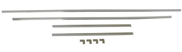 Fits 64 65 Savoy 330 2 /& 4 Door Sedan Rear Glass Window Reveal Molding Clip Kit
