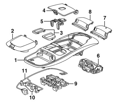 99 02 overhead console dodge truck interior parts mopar parts jim's auto parts 2017 Dodge Ram Wiring Diagram at gsmx.co