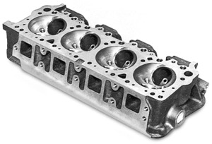 hemi mopar cast iron cylinder heads stiffer and stronger than original,  increased material permits porting for improved airflow  all components  attach the